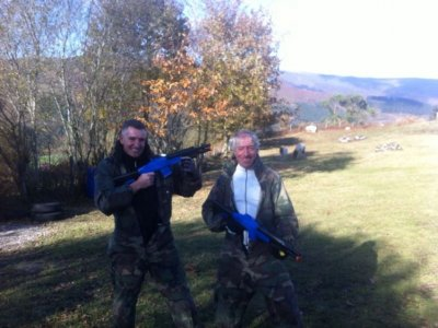 Paintball game for companies in Cabuérniga
