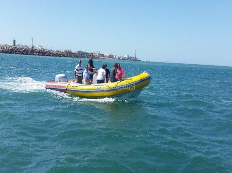 A bordo del barco