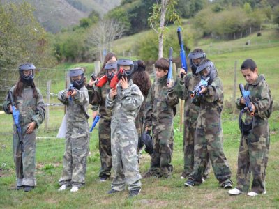 Birthday with paintball and snack in Cabuérniga