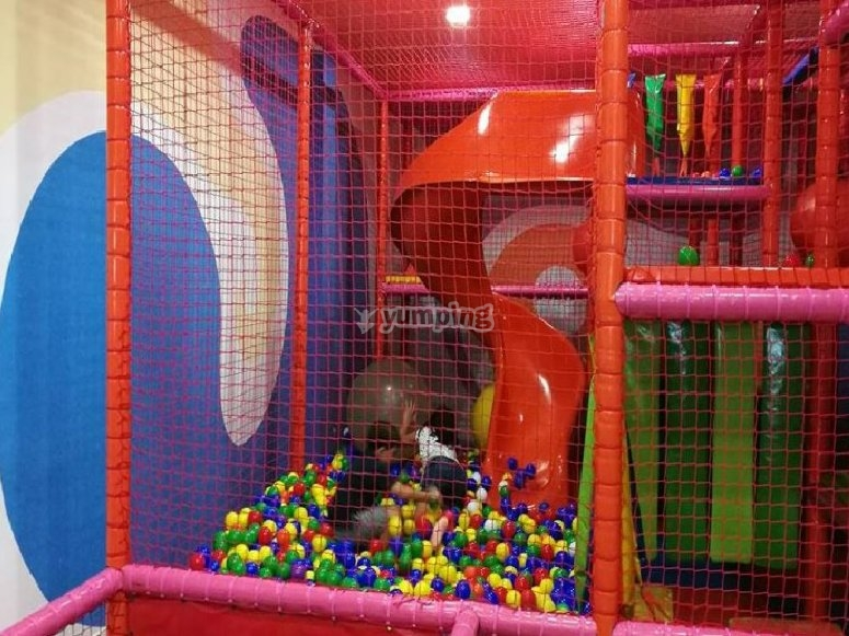 Playing in the ball pool