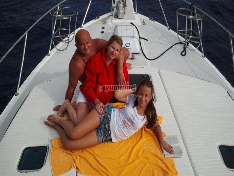 Relajacion en el barco y con la familia