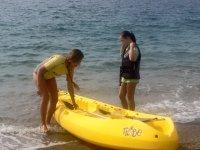 Todos al agua en kayak