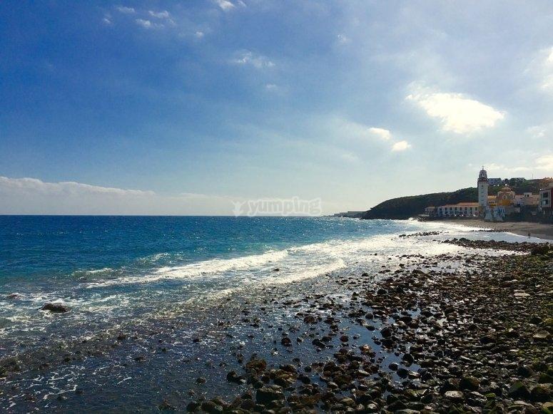 En las paradisiacas playas de Tenerife