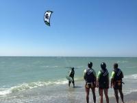 Aprendiendo a hacer kitesurf