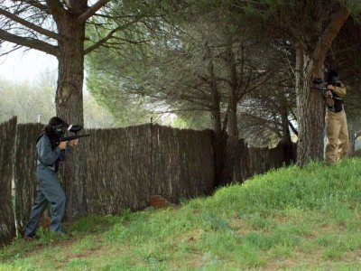 Playing paintball in Madrid with 150 balls