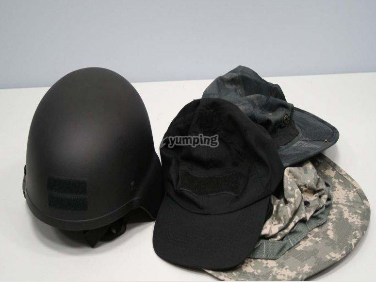 Casco o gorras a elegir