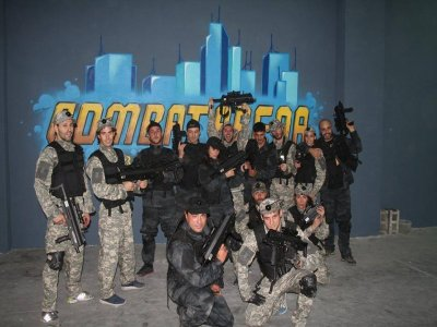 Laser tag match for firm events, Madrid