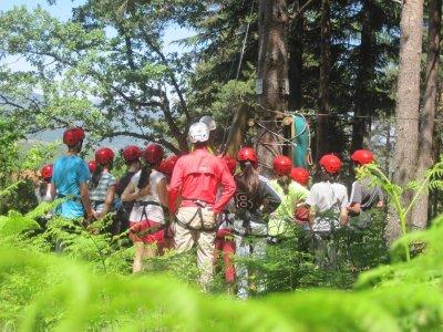 Multiaventura en Hoyos de Espino circuito infantil