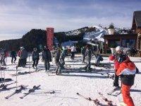 Preparandonos para esquiar