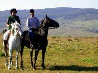 Plan romántico a caballo