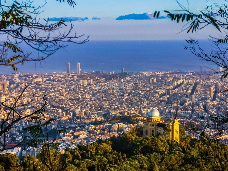 Vista sensacional de Barcelona
