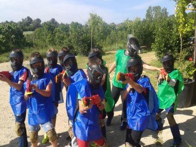Birthday with children's paintball in Caldes 1h