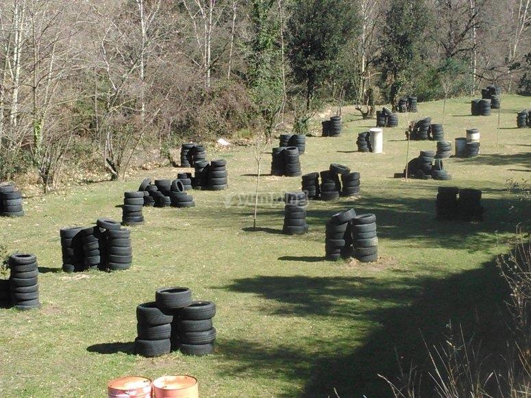 Circuito de paintball neumáticos