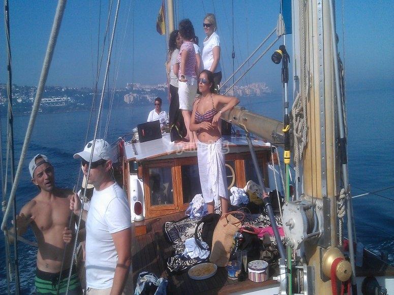 Team building in boat in Estepona