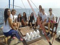 Salida en barco escolar Estepona