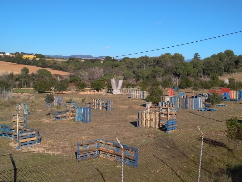Circuito de palets en paintball