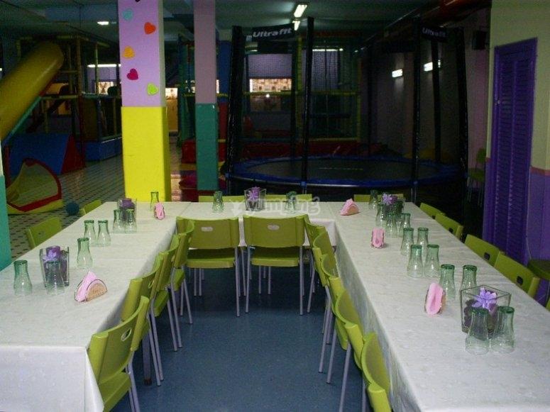 Vista su sala da pranzo