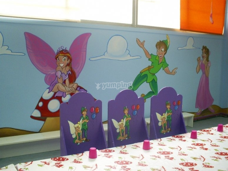 The children's snacks area