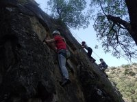 Climbing the wall in a group