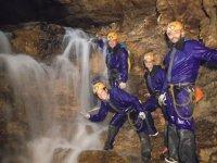 Aguas en la cueva de Riopar
