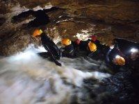 Caving adventure with neoprene