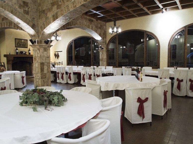Comedor del restaurante en La Rioja