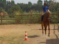 Equitacion en el campamento Montellano