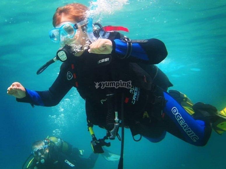 Durante la inmersion