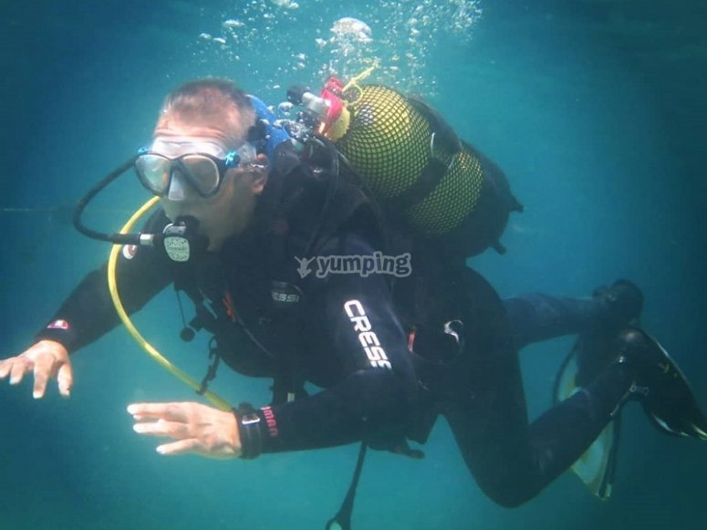 Ya bajo el agua