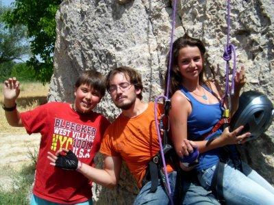 Escalada en roca con cuerda en Guadalajara