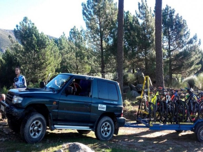 Trasladando las bikes