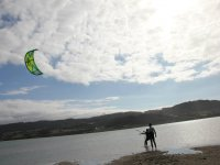 Learning kitesurfing