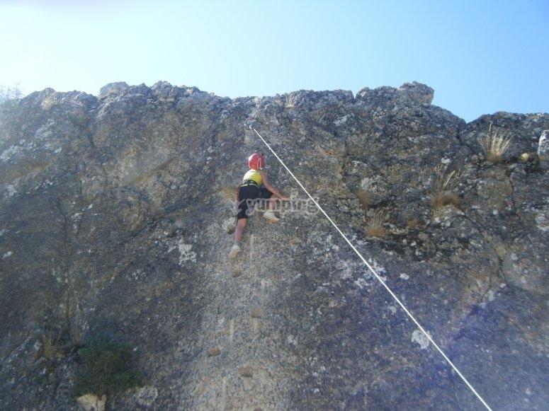 A punto de llegar a la cima