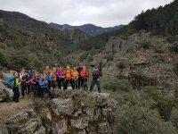 grupo de senderistas en la Sierra de Francia Salamanca