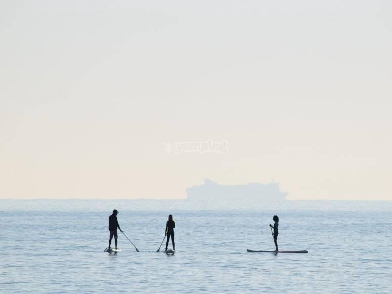 Paddle surf en alta mar