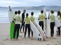 Surf lessons on the beach