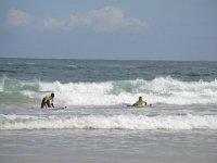Cogiendo las primeras olas
