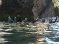 Flotando en aguas del barranco