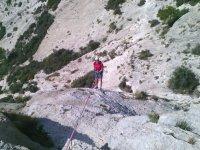 Iniciación rápel con escalada en Alicante