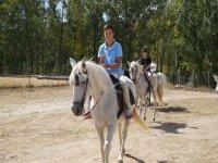 Montando en caballos blancos