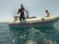 clases con embarcacion de apoyo