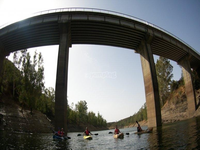 Under the bridge of Agrio river