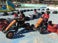 Go-kart race with pedals