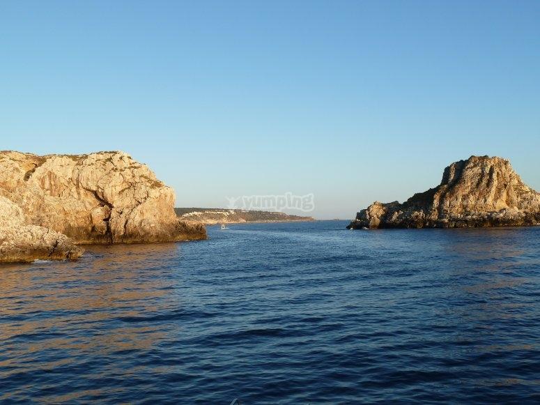 Impresionantes vistas desde el catamaran