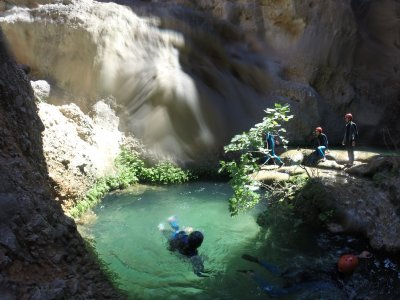 Canyoning for children in La Horta de Sant Joan