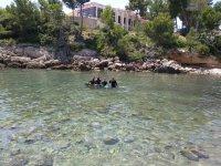 Diving in Cala Llobeta