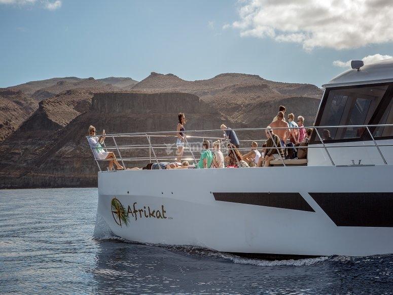 A bordo del catamarán por Gran Canaria