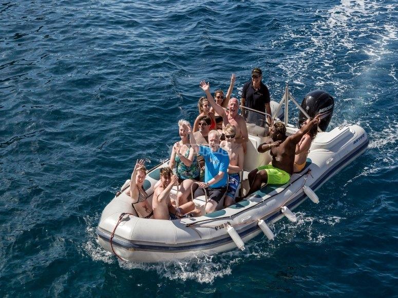 Barca rápida en Canarias