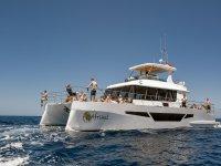 Diversión en el catamarán