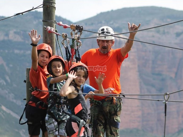 Treetop and zip-lining for families